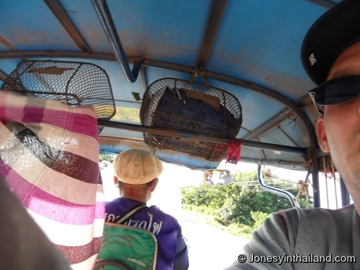 inside a tuk tuk Thailand