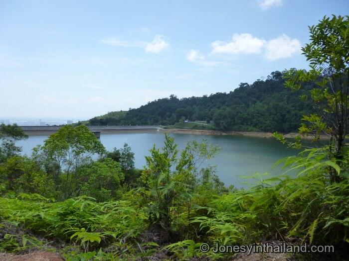 View over Air Itam Dam