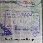 Thailand Tourist Visa Exemption 90 or 30 Days