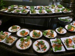 Salmon prepared in salad